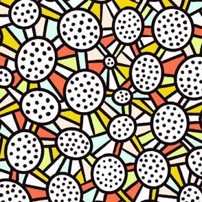 Bold and Blocky Dotty Circles