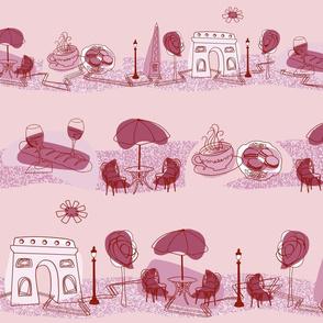Avenue des Champs-Elysees V Rose on Pink