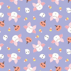 Pastel Kawaii Halloween bat pattern
