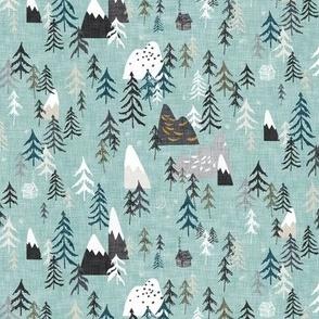 Forest Peaks (sky blue) SML