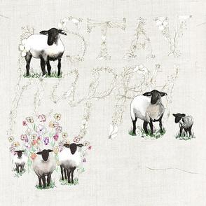 HAPPY SHEEP EMBROIDERY COSMOS
