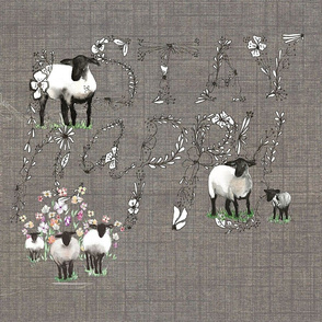 HAPPY SHEEP UMBER COSMOS