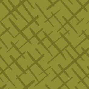Paintbrush Crosshatch Olive
