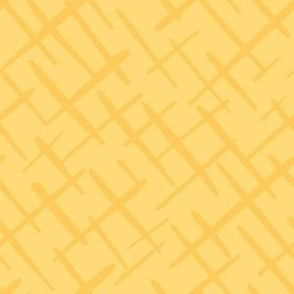 Paintbrush Crosshatch Sunshine Yellow