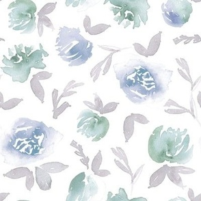 Pale green, blue and gray