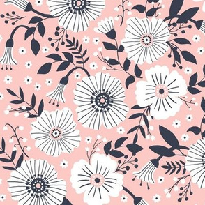 Bold floral in blush
