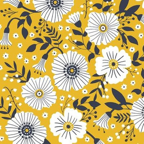 Bold floral in yellow