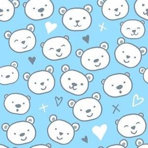 Cute Bears on Blue
