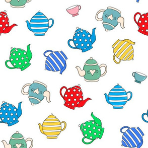 Patterned TeaPots & Cups