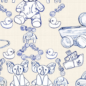 Off the Wall Toy Toile Wallpaper