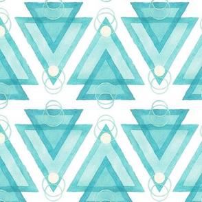 Aquarell Dreiecke hell