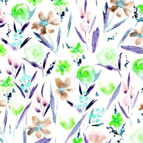 Ethereal wildflowers - watercolor florals p293