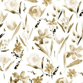Earthy boho Ethereal wildflowers -watercolor florals p292