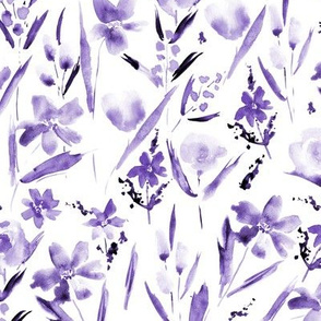 Amethyst ethereal wildflowers -watercolor florals
