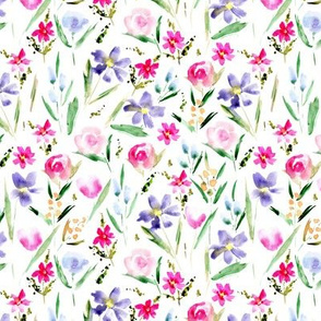 Ethereal wildflowers -watercolor florals