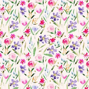 Small scale Ethereal wildflowers -watercolor florals 292