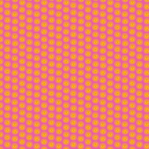micro - Sunny Suns on pink