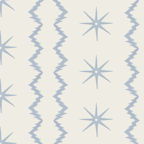 Soft blue and cream zig zag stripe copy
