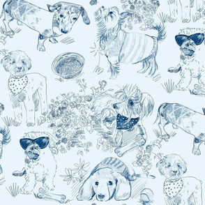 Dog Park Toile // Navy