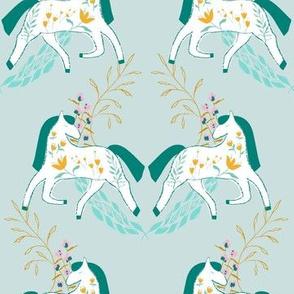 Horse Laurel - teal