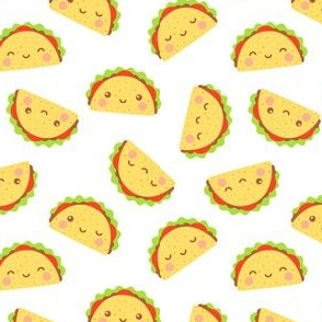 Happy Tacos on White