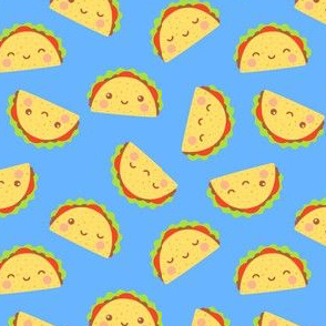 Happy Tacos on Blue