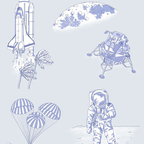 To the Moon (and Back!) Toile