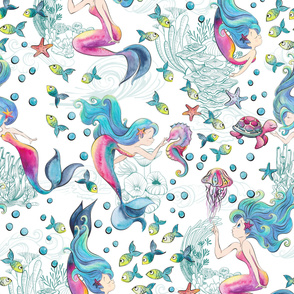 Modern Mermaid Toile