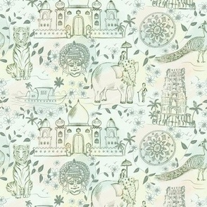 Indian heritage toile