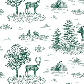 Animals toile de Jouy