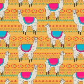 Aztec Llama (Orange)