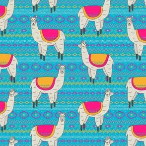 Aztec Llama (Blue)