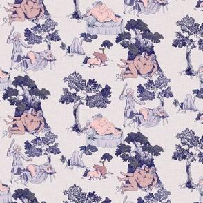Kinky Toile de Jouy in Naughty Blue