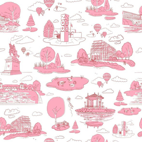 Forest Park STL Pink- Large