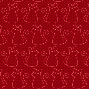 Doodle Mice - Maroon