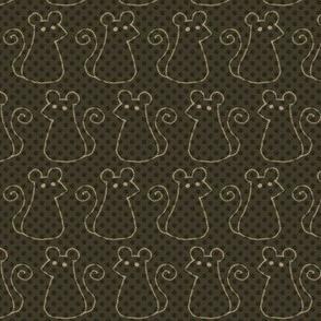 Doodle Mice - Warm Dark