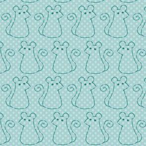 Doodle Mice - Mint