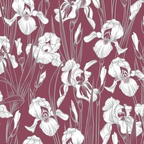 Toile Twilight Iris | Dusty Rose+Silvery Gray+White