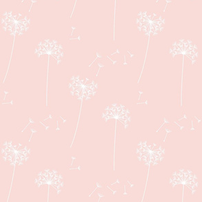 dandelions {1} blushing pink reversed earthy tones