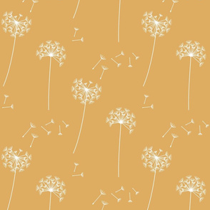 dandelions {1} golden reversed earthy tones