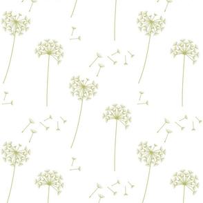 dandelions {1} green banana earthy tones