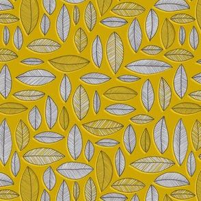 Leaf Geo - mustard
