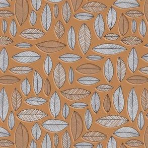 Leaf Geo - terracotta