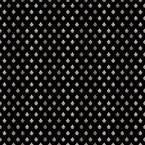 Fleur De Lys Black & Gold-grid3