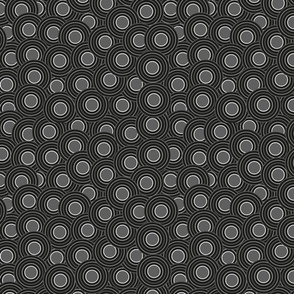 black circles with gray - medium