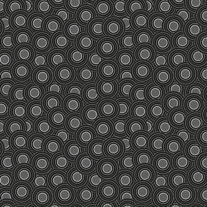black circles with gray - medium