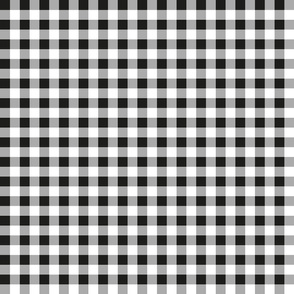 gingham black and white small