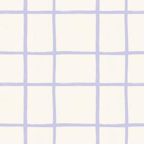 Grid Lilac Beige Baby Cloth