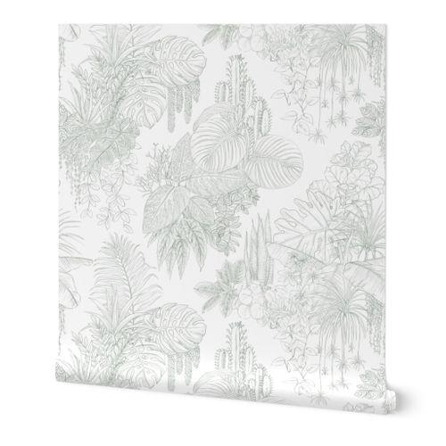 urban jungle - indoor plants toile