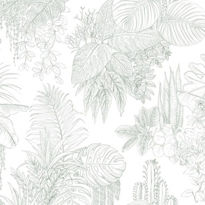 urban jungle - indoor plants toile